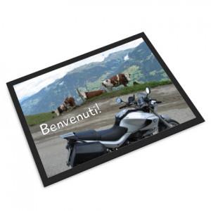 regalo per un motociclista zerbino foto moto