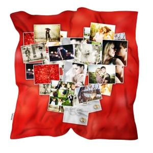 coperta personalizzata collage cuore