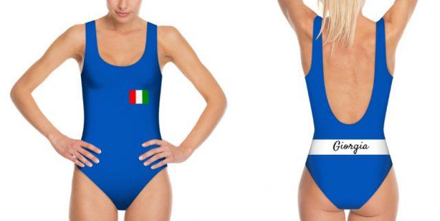 costume nuoto personalizzato blue nazionale italiana