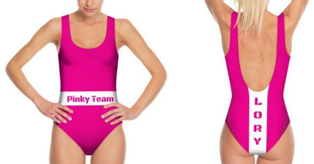 costumi da nuoto personalizzati con nome squadra e nome proprio