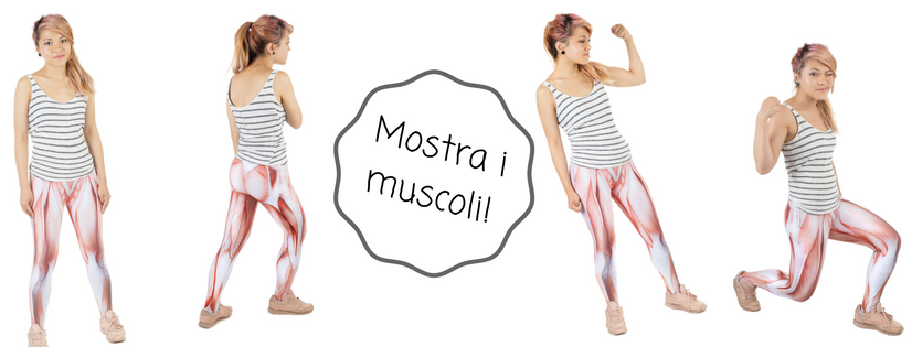 leggings con muscoli