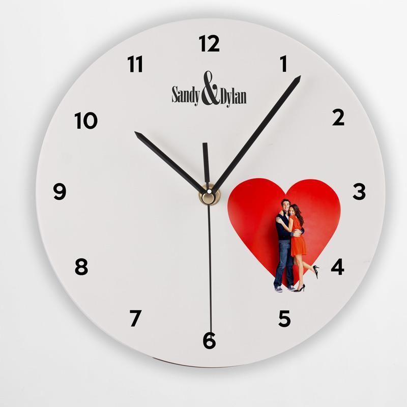 Orologio rotondo da parete foto regali originali for Foto orologio da parete