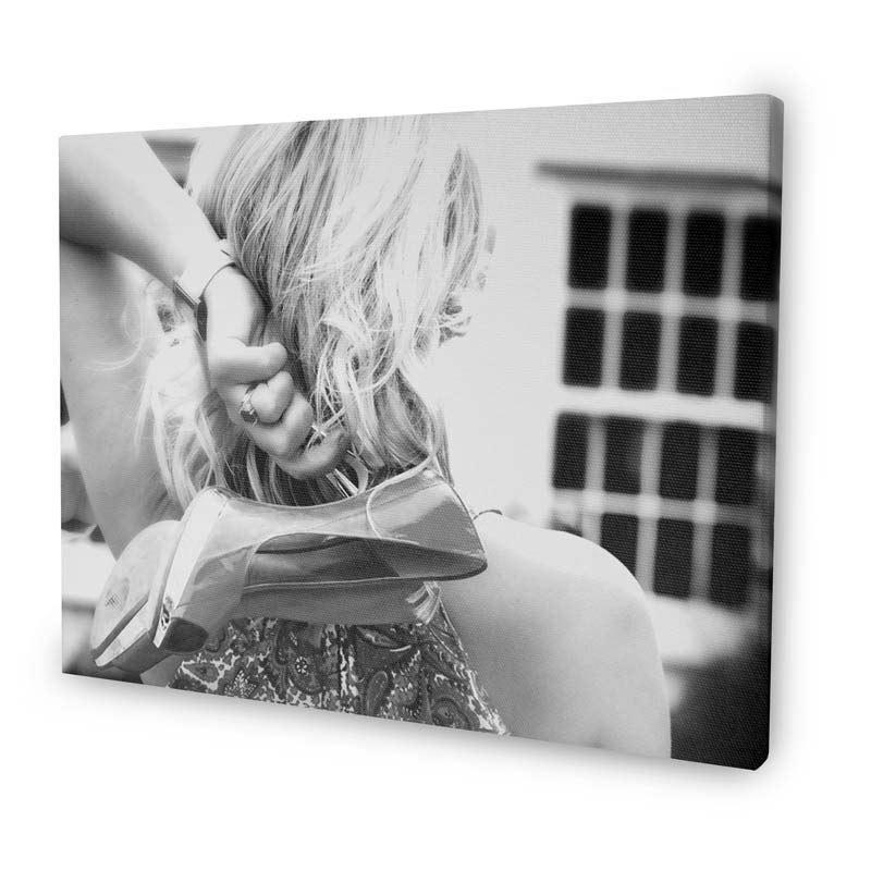 Tela fotografica in bianco e nero foto regali originali for Tableau noir et blanc avec touche de couleur